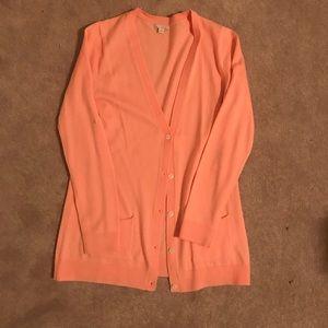 Gap peach cardigan size m